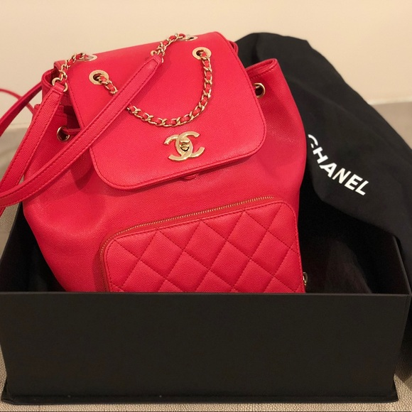 13bde3e74846 CHANEL Handbags - Chanel Business Affinity Backpack in Red Caviar
